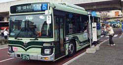 京都水族館のシャトルバス<