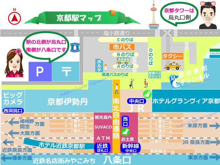 京都駅まるわかりマップ