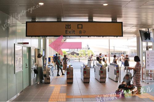 梅小路京都西駅の改札