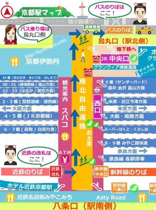 京都駅のマップ