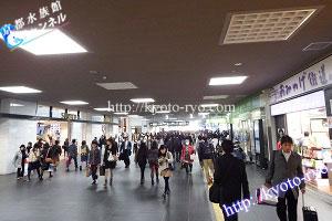 京都駅ビルの南北自由通路