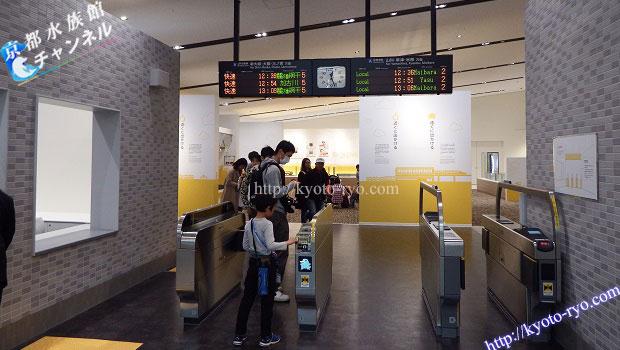 京都鉄道博物館にある改札