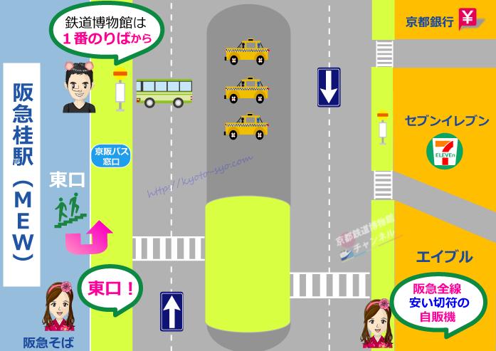 阪急桂駅のマップ