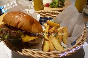 熟成肉のハンバーガー