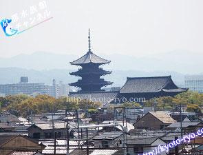 京都鉄道博物館から見える東寺