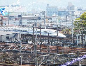 京都鉄道博物館から見える新幹線