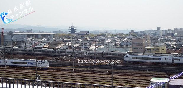 スカイテラスから見える東寺の五重塔