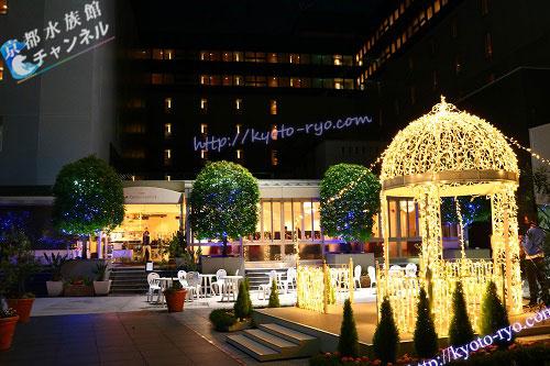 ホテルグランヴィア京都の中庭