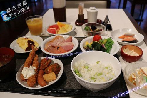 ドーミーイン京都駅前の朝食ブッフェ