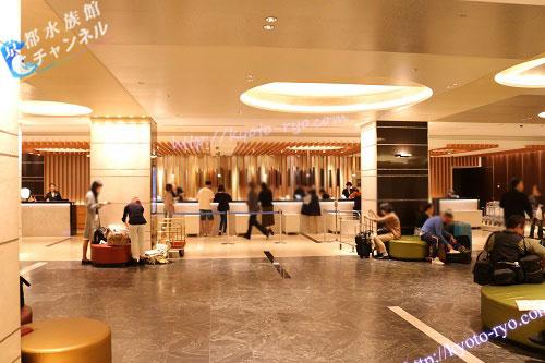 新・都ホテルのフロント