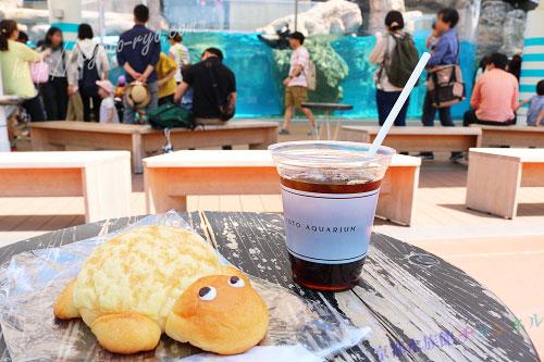 京都水族館のカフェ