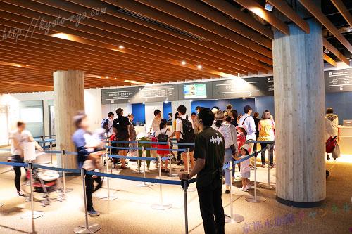 京都水族館のチケット売り場