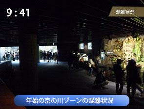 年末年始の京の川ゾーンの混雑