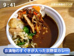京都水族館の京野菜カレー