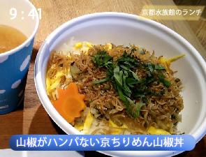 京都水族館の山椒丼