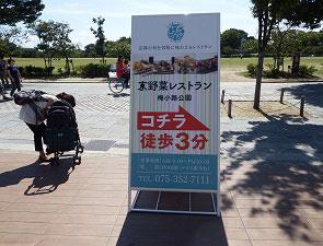 京野菜レストラン梅小路公園の看板