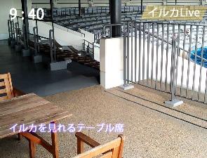 京都水族館の食事テーブル