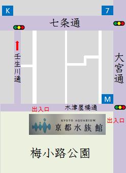 京都水族館周辺のコンビニマップ