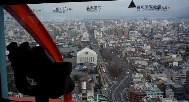京都タワーから見える北側の景色