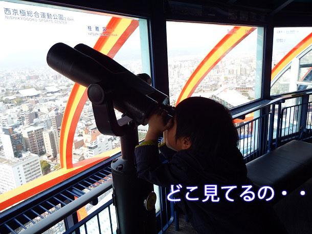 京都タワーの展望室にある望遠鏡