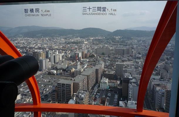 京都タワーから見える東側の景色