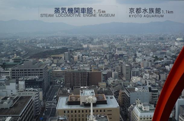 京都タワーから見える西側の景色