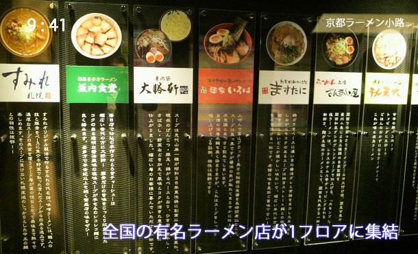 京都拉麺小路の店舗一覧