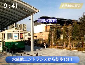京都市電ひろばと京都水族館