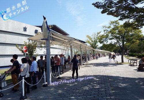 京都水族館のチケット待ちの行列