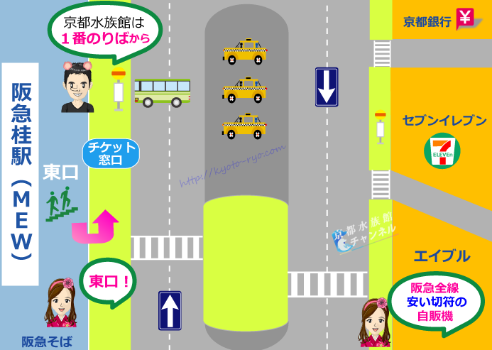 阪急桂駅前の地図