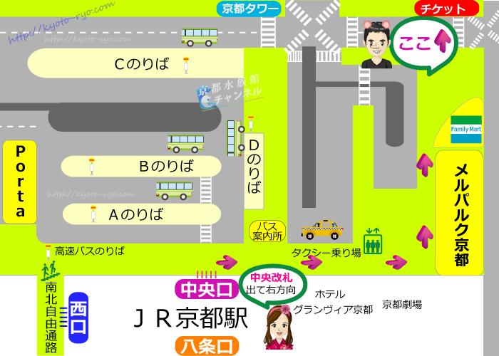 京都駅前の地図
